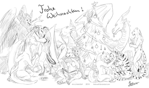 Frohe Weihnachten - Commission by KeksWolf