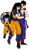 Commission: Sakura, Gohan and Goten by PDJ004