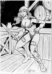 Red Sonja sketch by JLRincon