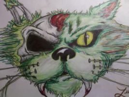 Zombie Cat by MayanMuscle