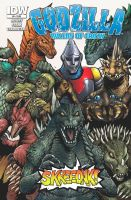 Godzilla Rulers of Earth issue 8 cover - text ver by KaijuSamurai