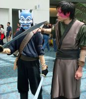The Blue Spirit and Zuko by zvko