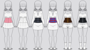 Kisekae Corset Collection (w/ codes) by RainbowFan256
