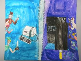 NES VS. PS2 by BARproductions