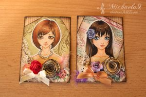 33. - 34. ACEO - Vintage portraits set by Michaela9