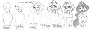 How to draw Jasmine by Tella-in-SA