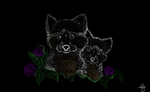 Raccoons and Roses-CM by Angelrobinwolf101