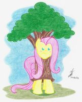 Fluttershy likes being a tree by NightShadow154