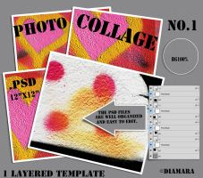 Photo Collage No1 Layered Template by Diamara