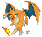 Pokemon Red: Charizard by SpyxedDemon