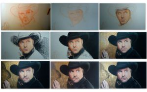 Garth Brooks Drawing Steps by blackblacksea