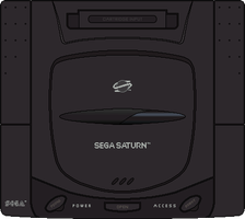 Sega Saturn by BLUEamnesiac