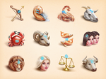 Astrology icons by Vlademareous