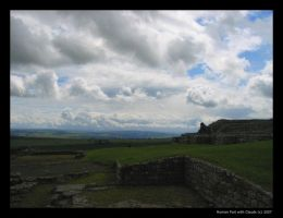 Roman Fort with Clouds by lykesorad