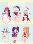 Adoptables!! 300 points by Hacuubii