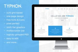 Typhon One Page PSD by snkdesigns