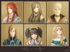 Tales of he Abyss  CAST by Dice9633