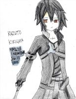 Entry For Shock's  SAO Contest. Kazuto Kirigaya by RavenMangekyo