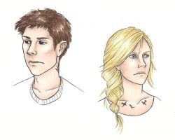 Divergent - Four and Tris by achelseabee