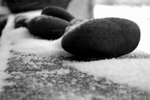 Stones in the Snow by coffeenoir