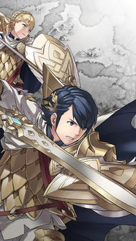 FE Heroes January Wallpaper - Alfonse and Sharena by Kaz-Kirigiri