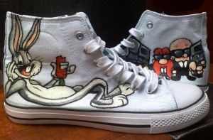 Looney Tunes custom shoes by Gohush