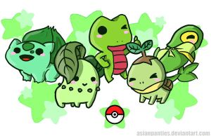 Pokemon Grass Mini Print by AsianPanties