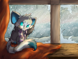 Chii: It's cold out there by Agryo