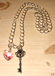 Locked Heart - necklace by DiscoPotato