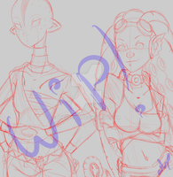 .:Alien Girls WIP:. by alexpc901