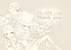 [LOL] Thank you for 15000 like on faaaaacebook~~! by beanbean1988