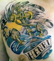 anchor tattoo by mojoncio