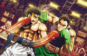 Ippo X Little Mac. Who do you bet? by ZehB