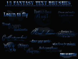 Fantasy text brushes by OMFGman