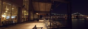 South Street Seaport At Night by johanneswalter