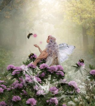 Fairy And Bees by MelieMelusine