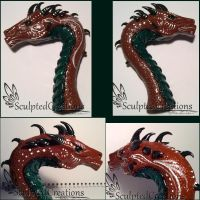 Dragon bust finish by SculptedCreations