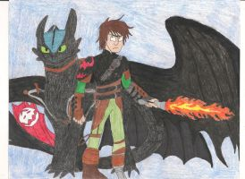 Hiccup and Toothless by bdehkte