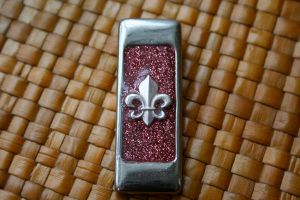 Fleur De Lis Resin Pendant by Zen-Art-Gallery