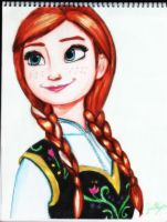 Anna (Disney Frozen) by GuillermoAntil