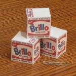 Mini Warhol Brillo Box Paper Toys by Tektonten