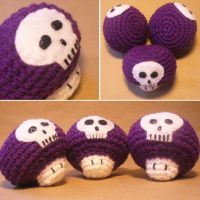 Amigurumi Poison Mushrooms by MalonB