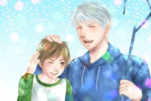 Commission : Jack Frost and Jamie Bennet by Hana--bee