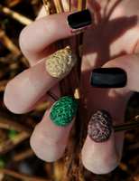 Game of Thrones - 3D Dragon Egg Nail Art by KayleighOC