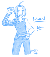 Edward Elric Sketch by ProSonic
