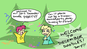 December Doodles 2014- Day One by sadwonderland