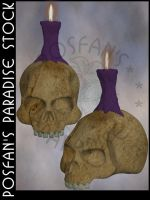 Skull w/Candle 003 by poserfan-stock