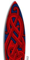Celtic Flavoured Surfboard by twistedstrokes