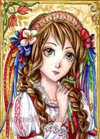 Slavic Girl 2 ACEO by MeredithDillman