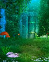 Fantasy hideaway BG stock by Moonglowlilly